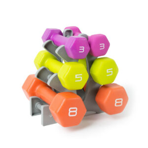 Tone Fitness Neoprene Coated Dumbbell Set with Rack - Premier Fitness Service