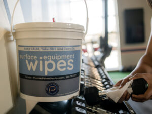 We have Sanitation Wipes! - Premier Fitness Service