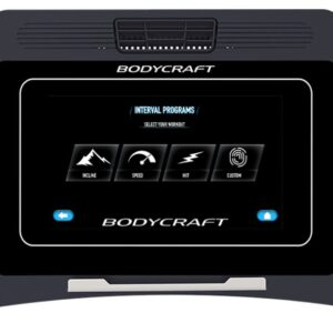 BODYCRAFT - T1000 10″ TOUCHSCREEN TREADMILL - Premier Fitness Service